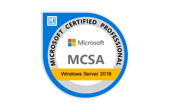 Microsoft Certified Solutions Associate Windows Server 2016