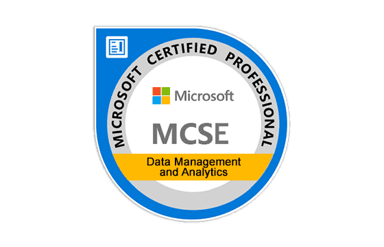 Microsoft Certified Solutions Expert Data Management and Analytics