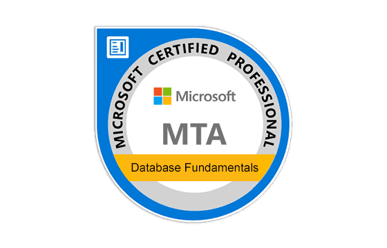 Microsoft Technology Associate Database Fundamentals